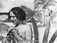 Beautiful Girl gets Fucked at the Beach (1930s Vintage) tube porn video