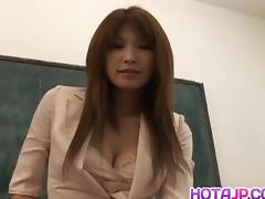 Ai Kurosawa fondles her tits and rubs pussy in front of fellow tube porn video