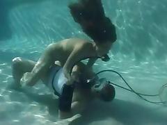 Scuba girl pool care tube porn video
