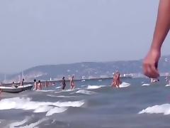 Sluts on a beach in my amateur voyeur porn clip tube porn video