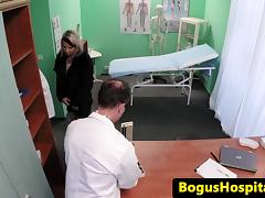 Hospital patient fucked in a paddling ###l tube porn video