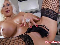 Euro Blonde Stunner Puma Swede Cums Hard From Solo! tube porn video