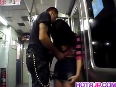 Aya Matsuki is roughly fucked by stranger in dark in subway tube porn video