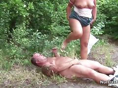 German MILF Mom Seduce to Fuck Outdoor by Young Boy tube porn video