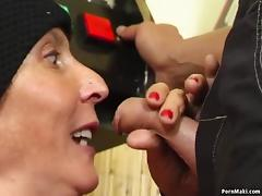 Hairy granny fucked on the pool table tube porn video