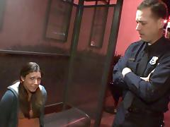 Policeman on slut patrol finds one and fucks her brains out tube porn video