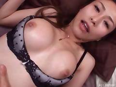 Stunning lingerie set on a Japanese girl fucking your dick tube porn video