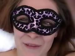 My first milf in mask sucks cock and gets her pussy filled with my semen tube porn video