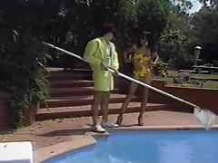 Vintage black shemale in outdoor threesome tube porn video