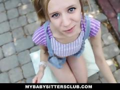 Petite Baby Sitter Caught Masturbating tube porn video