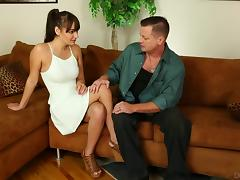 Busty brunette chick rides the dick with great vigor and lust tube porn video