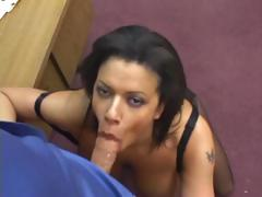 Fucking in black ripped up crotchless pantyhose tube porn video
