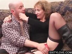 Blonde mature gets cunt teased tube porn video