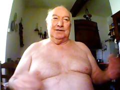 big belly grandpa show his body and stroke tube porn video