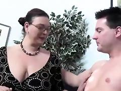 mature wife loves having fun with a young cock tube porn video