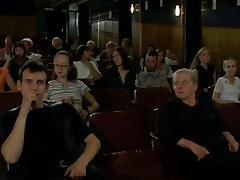 In the cinema tube porn video