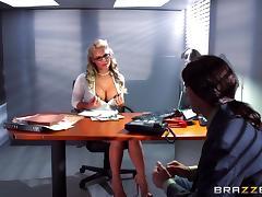 Nerd dude and a sexy milf slut have big cock hardcore sex tube porn video