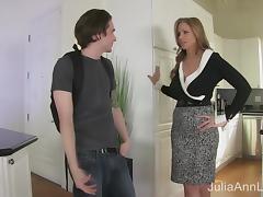 StepMom Julia Ann Fucks Stepson in Ass! tube porn video