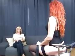 redhead vs blonde tribbing tube porn video