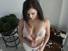 Flexible big boobs girl covered in oil and fucked in the ass tube porn video