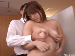 Curvaceous Japanese beauty sucks dick and fucks hardcore tube porn video