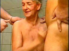 Granny vs two dick tube porn video