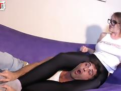 Spandex Scissorhold Creeping On TerraMizu Lance Hart tube porn video
