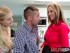 Natalia shares her boyfriends cock with her stepmom Julia An tube porn video
