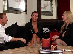 Blonde Milf Julia Ann & GF Gagged and Fucked! tube porn video