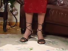 Blonde Milf In Stockings Footjob And Fuck tube porn video