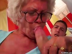 Granny Effie fucks tube porn video