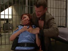 Policewoman gets her throat fucked tube porn video