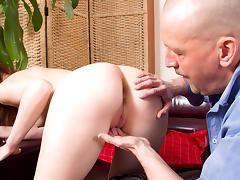 After thinking about it Alina decides to let the old dude do her - OldGoesYoung tube porn video