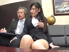 Seino just loves when her boss decides to penetrate her on the couch tube porn video