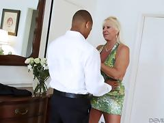 Grandma and a black guy have great interracial sex tube porn video