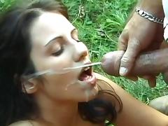 A nice cum load on her face after a good fuck tube porn video