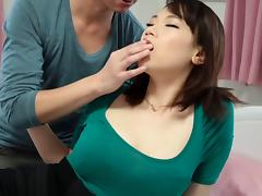 Fondling and sucking her Japanese titties and fucking her tube porn video