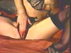Retro Classic - Girl Masturbating in Crotchless Panties tube porn video