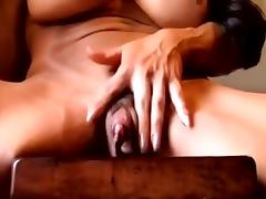 A big clit muscled woman masturbate tube porn video