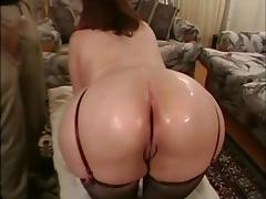Vintage Big butt Chubby massage threesome with facial tube porn video