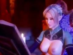Hot futa elf on futa elf action tube porn video