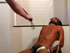 Whipping tanned slave tube porn video