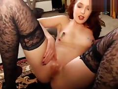 MargauxSwan: Nipple clamps and glass dildo cumshow tube porn video