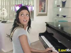 After a piano lesson Stephanie Cane gets satisfied tube porn video
