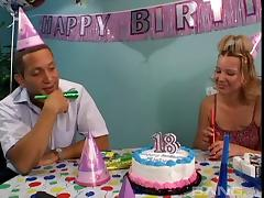 Birthday anal sex for a cute girl that craves hot cum tube porn video