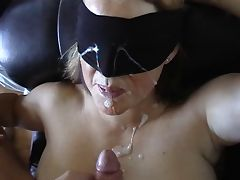 Blindfolded massive Facial tube porn video