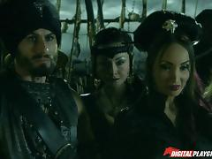 Jesse and Katsuni getting banged hard on the pirate ship tube porn video