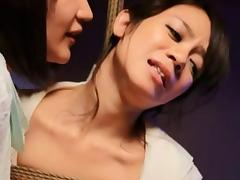 Asian girl plays bondage games and loves being tied up tube porn video