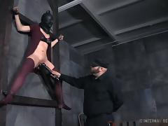 masked, tied on the wall and fucked tube porn video