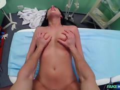 Celine in Doctor makes sure patient is well checked over - FakeHospital tube porn video